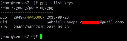 List Generated GPG Keys