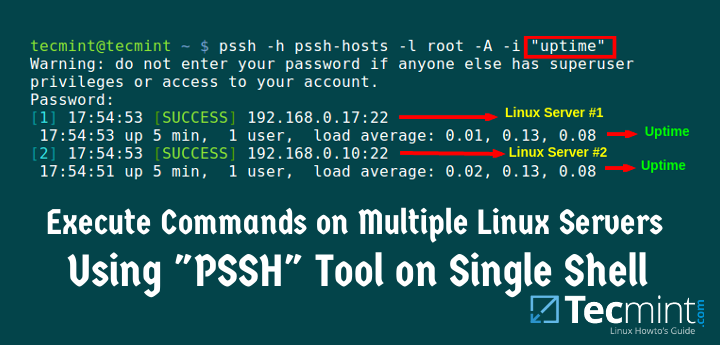 Pssh - Execute Commands on Multiple Remote Linux Servers Using