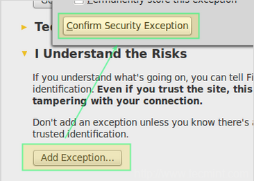 Wetty - SSL Security Warning