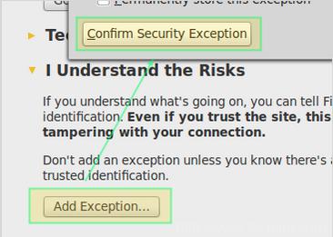 Wetty - SSL Security Warning