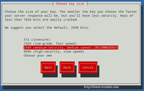 Select Apache SSL Key Size