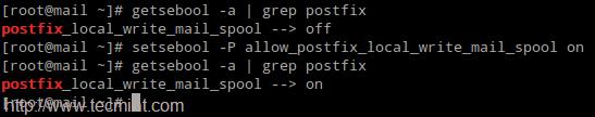 Set Postfix SELinux Permission