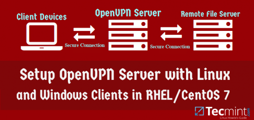 Setup OpenVPN Server and Client in CentOS 7