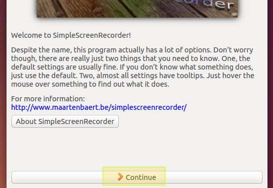 Simple Screen Recorder Setup
