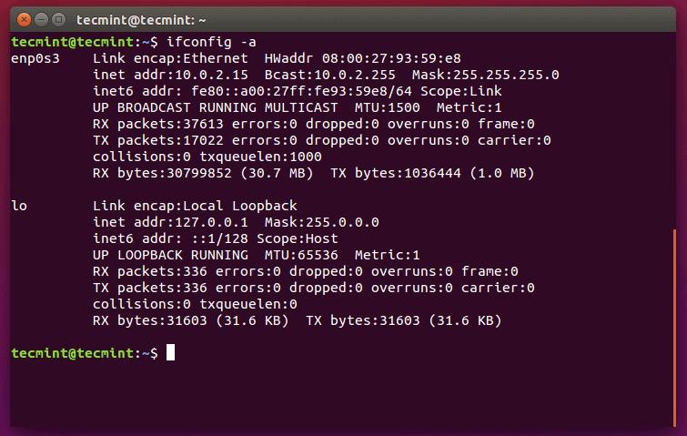 Check IP Address Ubuntu 15.10