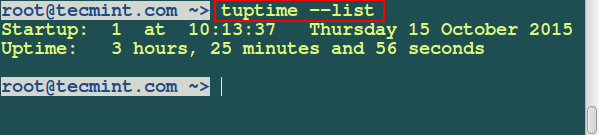 Check Linux Uptime