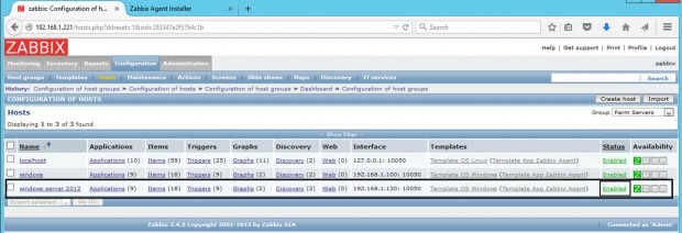 Check Windows Host in Zabbix