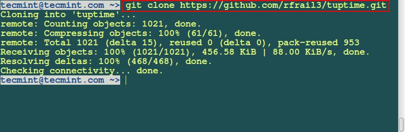 Clone tuptime Tool