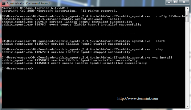 Configure Zabbix Windows Agent