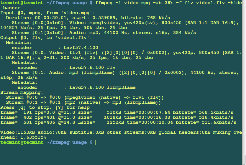 15 Useful 'FFmpeg' Commands for Video, Audio and Image