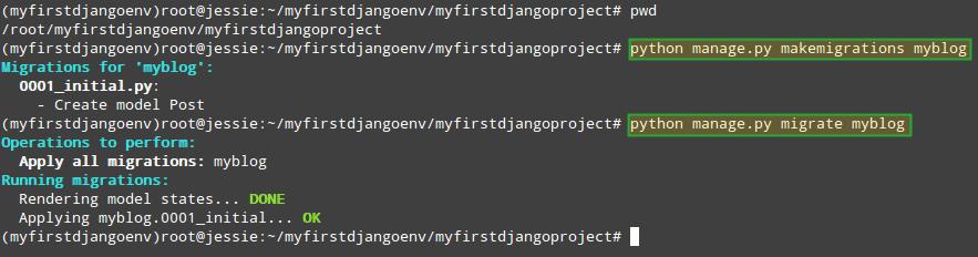 Create Django Database