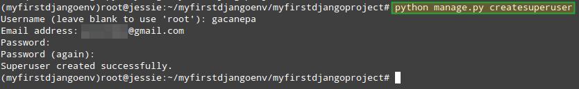 Create Django Web Admin User