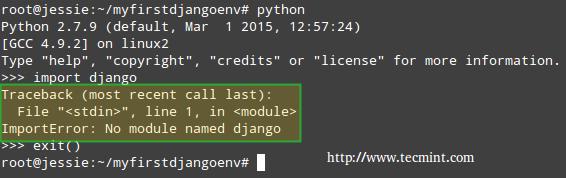 Django Error