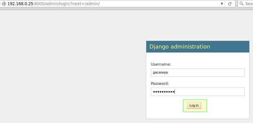 Django Web Administration