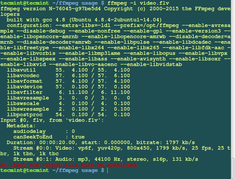 Hide FFmpeg Version Information