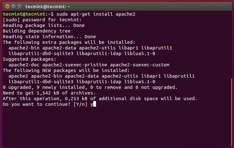 Install Apache in Ubuntu 15.10
