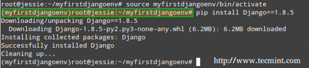 Install Django in Linux