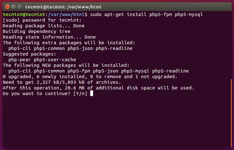 Install PHP and PHP-FPM in Ubuntu 15.10
