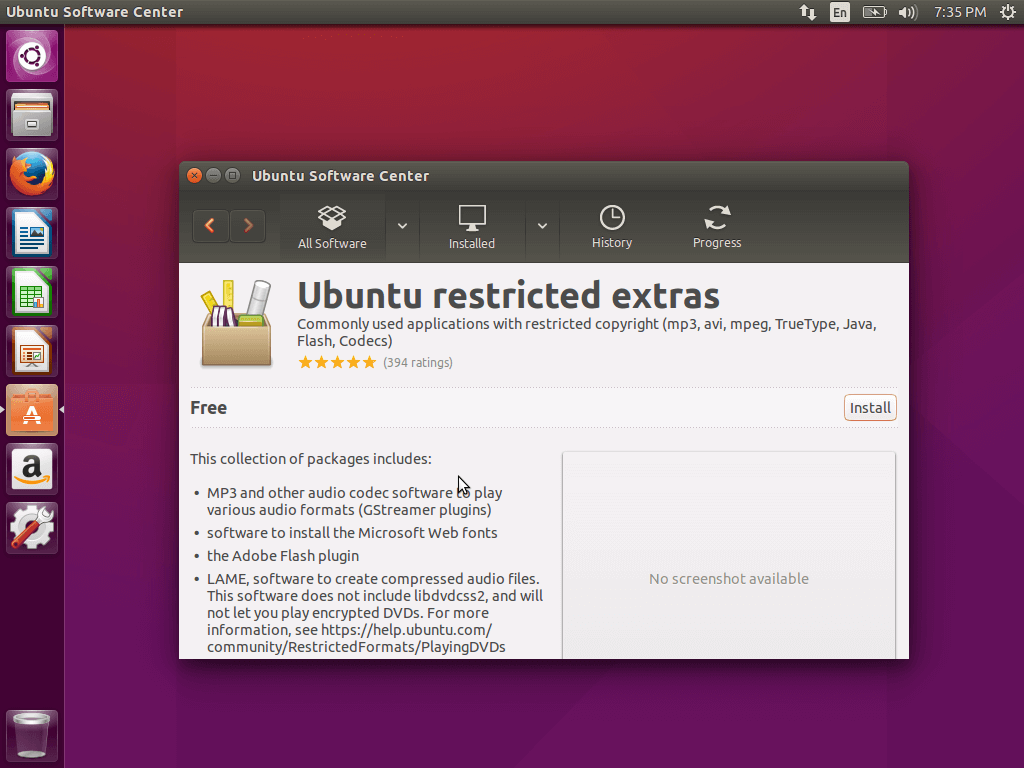 Install Ubuntu Restricted Extras
