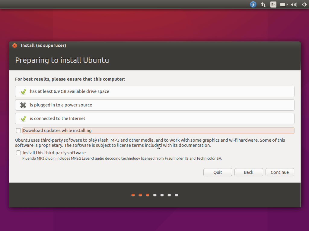 Preparing Ubuntu 15.10 Installation