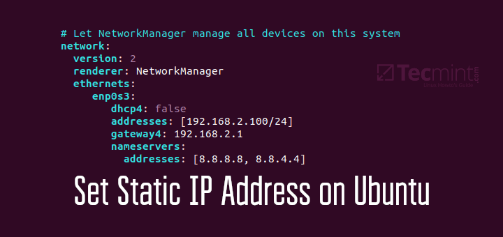 Set IP Address in Ubuntu