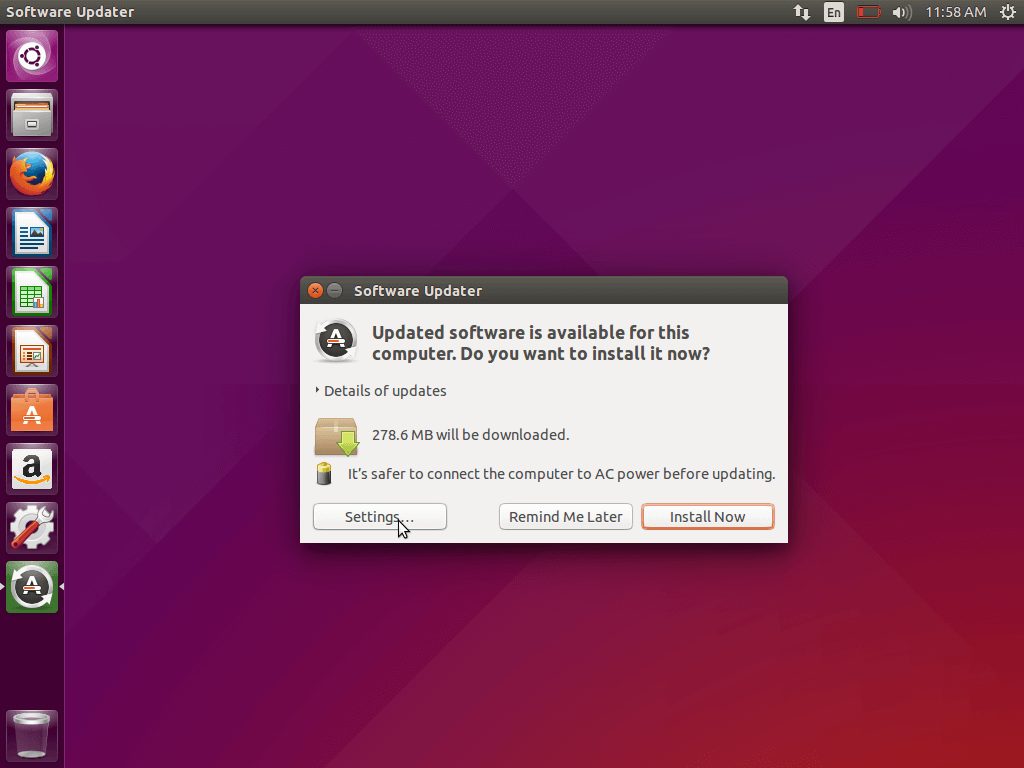 Software Update Settings