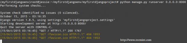 Start Django HTTP Server