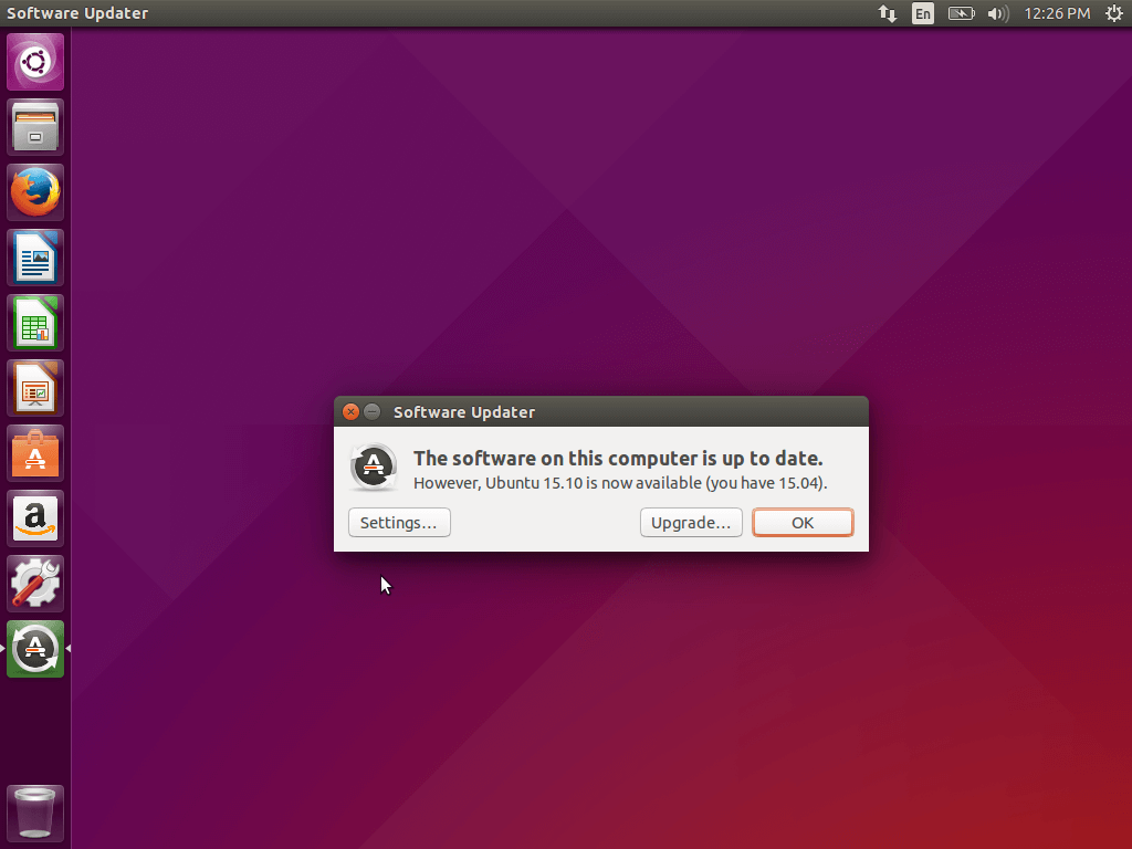 Ubuntu 15.10 Available to Upgrade