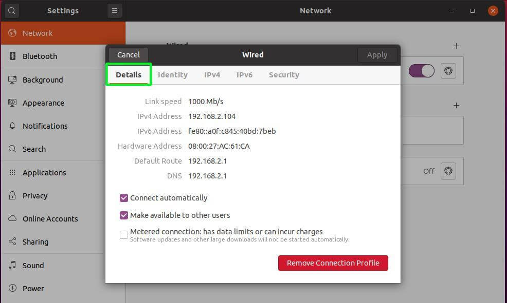 Ubuntu Network Configuration