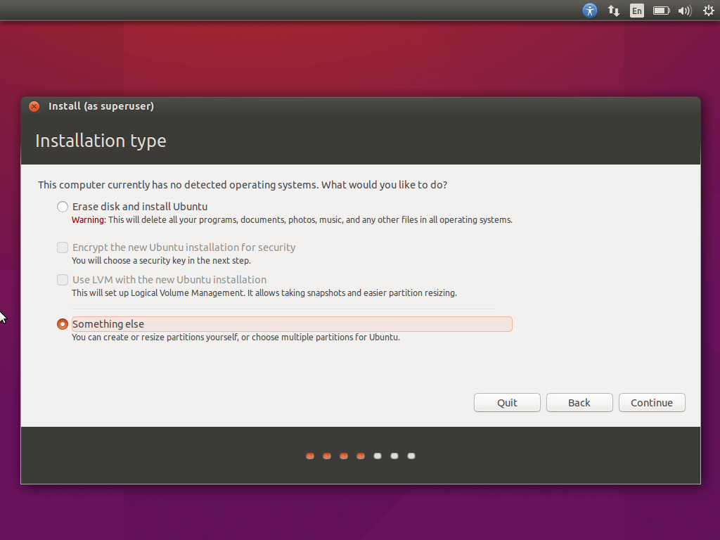 Ubuntu Partitioning Type