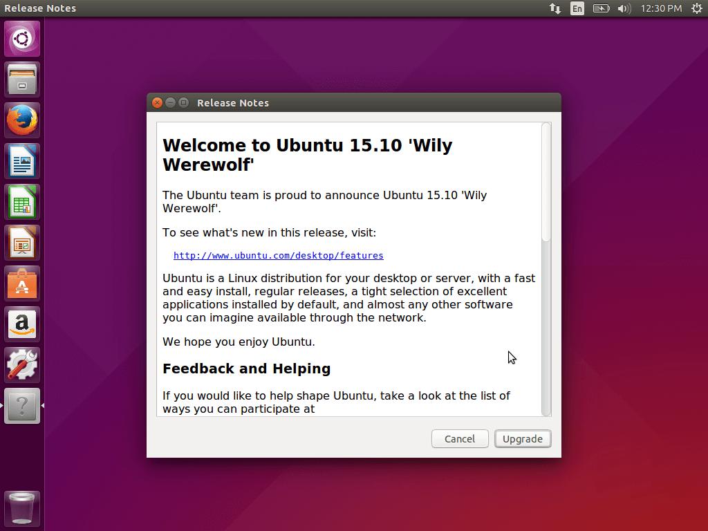 Ubuntu Upgrade Release Notes