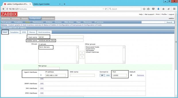 Windows Host Configuration in Zabbix