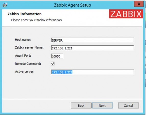 Zabbix Agent Installation on Windows