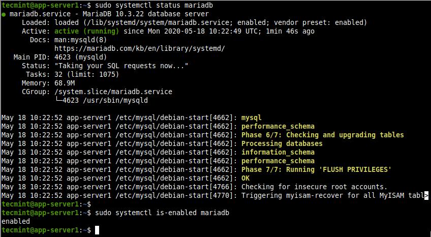 Check MariaDB Service