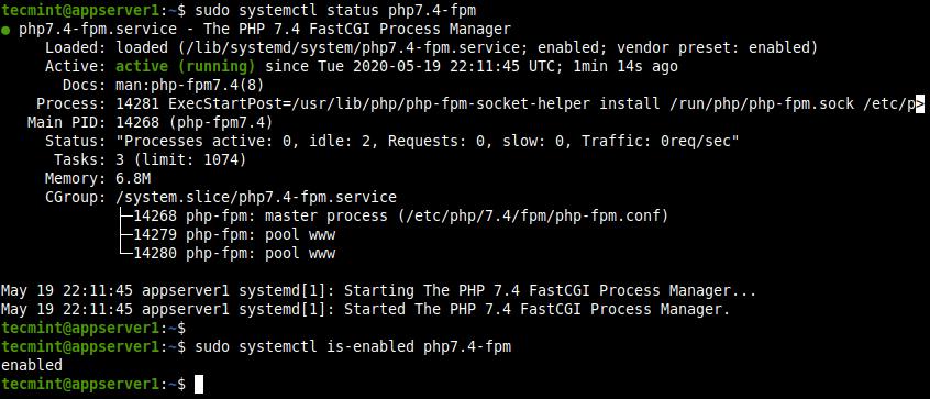 Check PHP-FPM Status