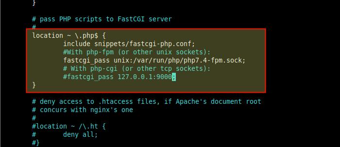 Configure Nginx Block to Use PHP-FPM Socket