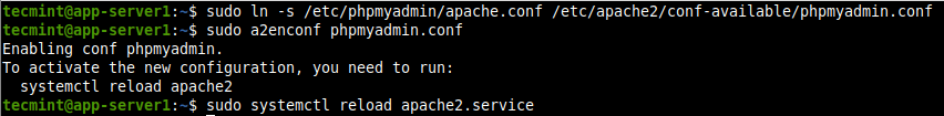 Enable PhpMyAdmin for Apache2