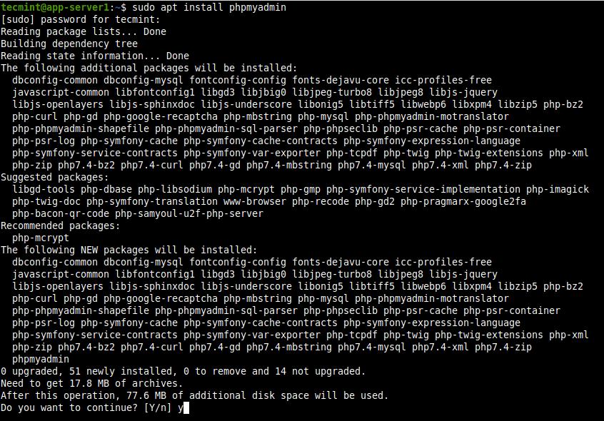 Install PhpMyAdmin in Ubuntu 20.04