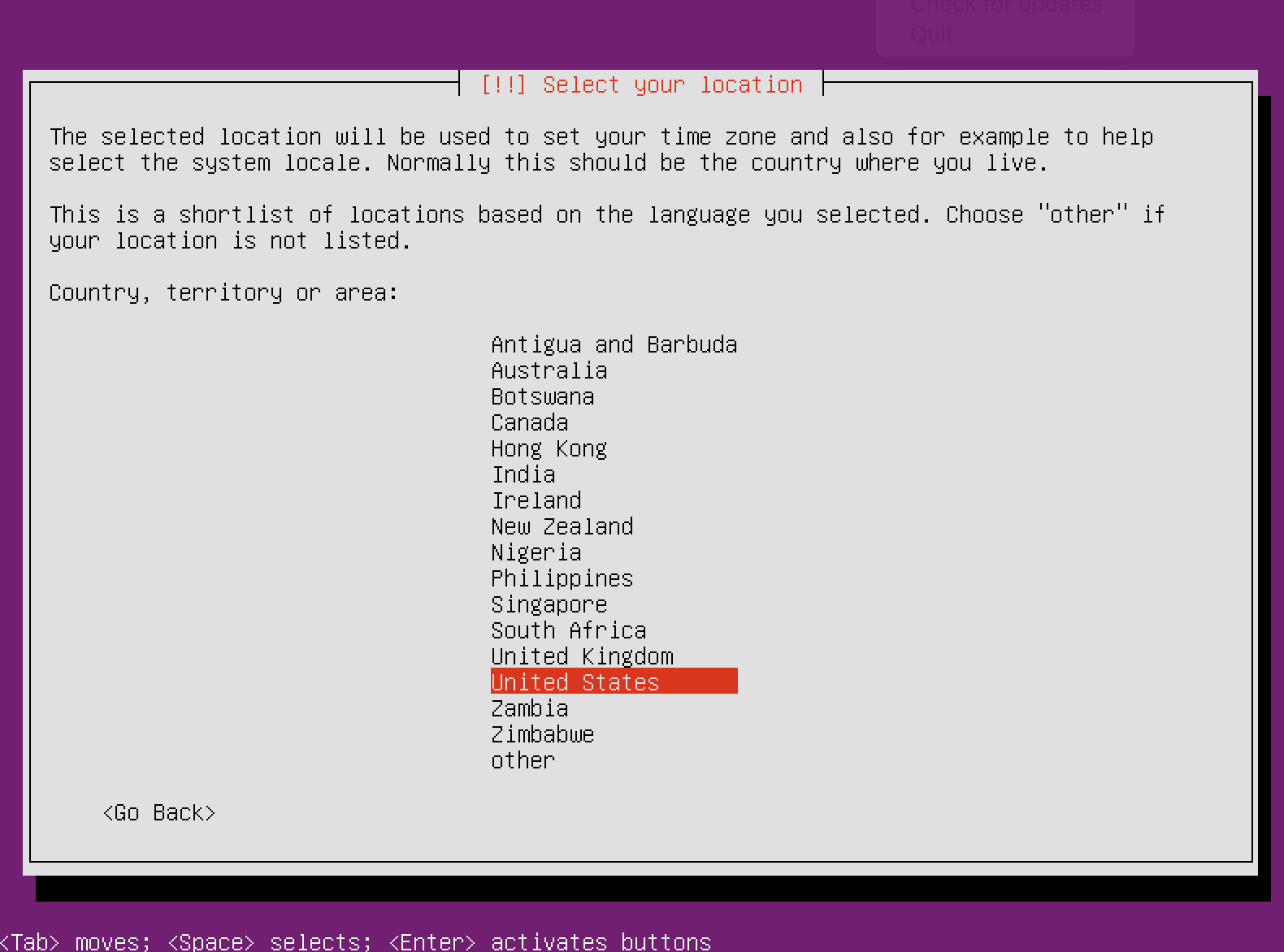 Set Server Country Location