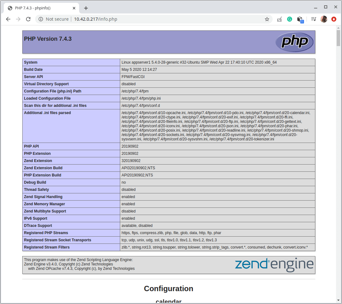 Check PHP and PHP-FPM Info