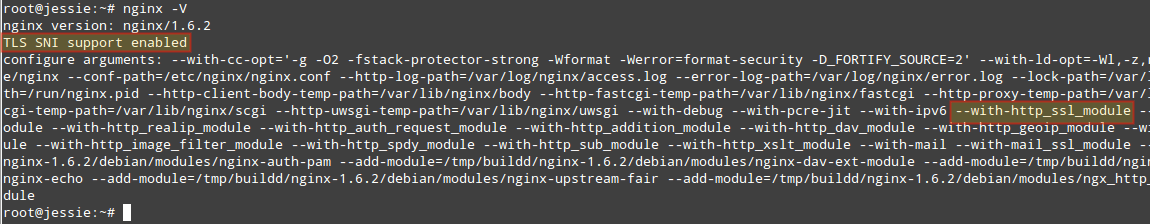 Check Nginx Version and Modules