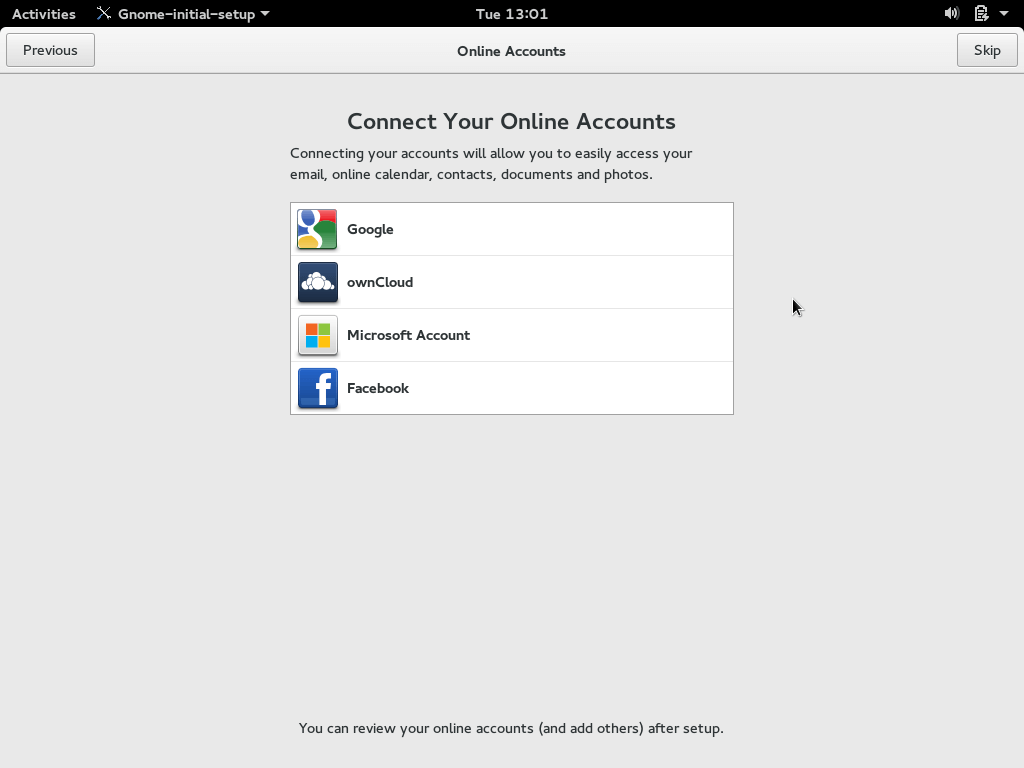 Connect Online Accounts