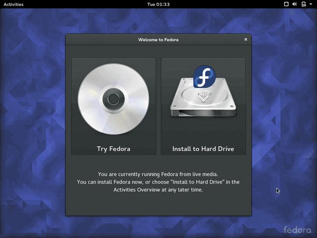 Fedora Install to Hard Drive
