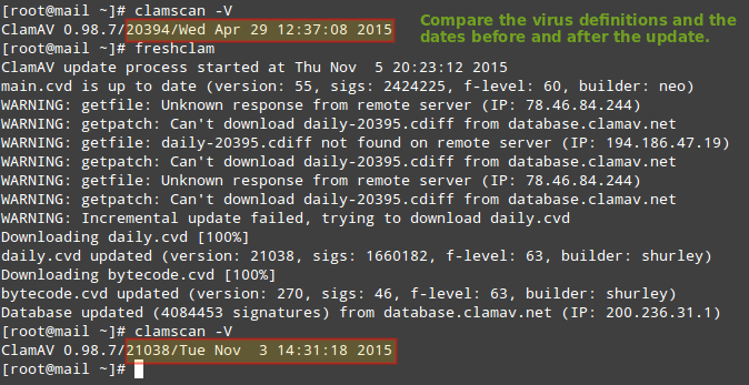 FreshClam Update ClamAV Virus Database