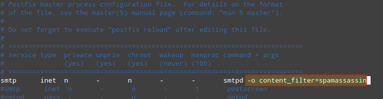 Integrate Postfix with SpamAssassin