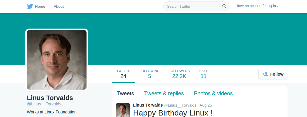 Follow @Linus__Torvalds