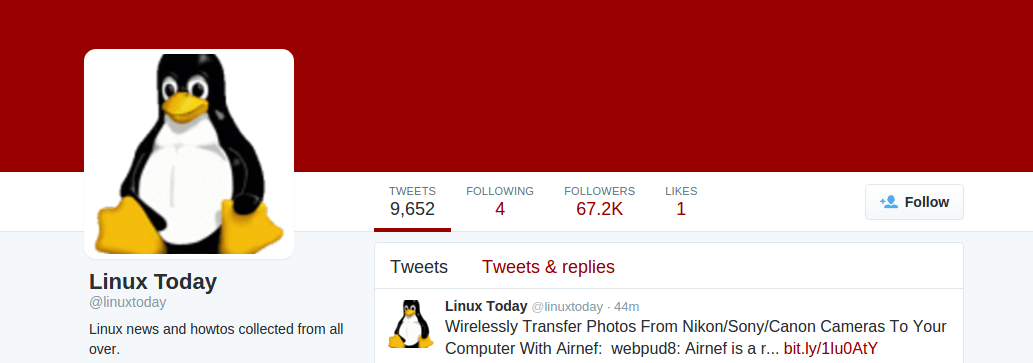 Follow @linuxtoday