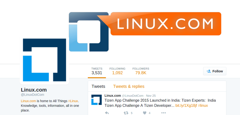 Follow @LinuxDotCom
