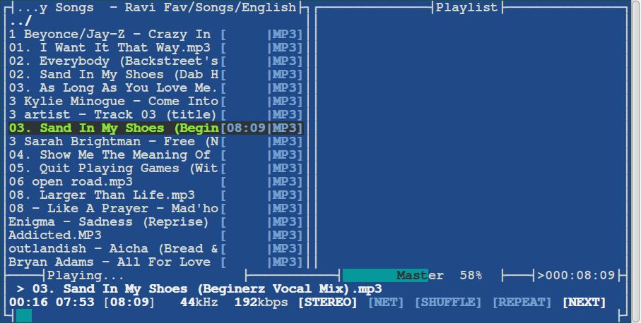 MOC Commandline Music Player