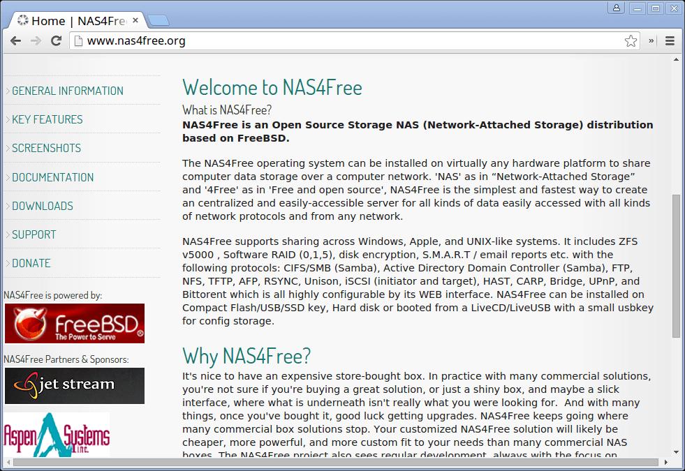 NAS4Free Network Storage